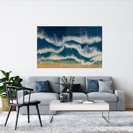 (CreativeWork) Beach by Tom Roso. Resin. Shop online at Bluethumb.