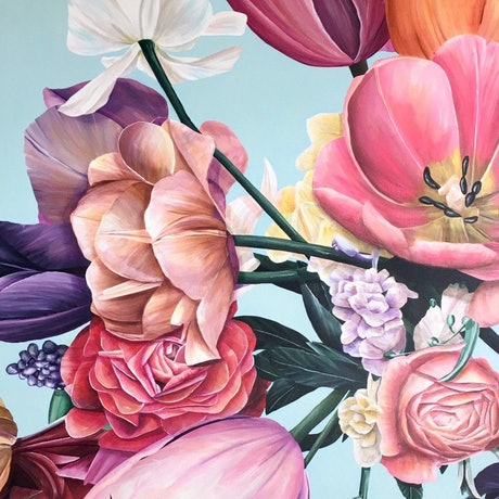 (CreativeWork) BEST IN BLOOM by Treena Seymour. Acrylic Paint. Shop online at Bluethumb.