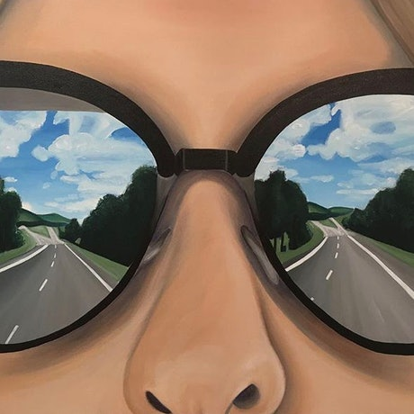 (CreativeWork) On the way to Grandma's by Amber Simon. Acrylic Paint. Shop online at Bluethumb.