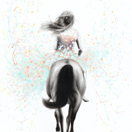 (CreativeWork) Finding Her Way by Ashvin Harrison. Acrylic Paint. Shop online at Bluethumb.