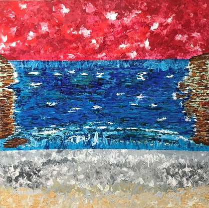 (CreativeWork) CONTAINMENT by Rachael Hains-Wesson. Acrylic Paint. Shop online at Bluethumb.