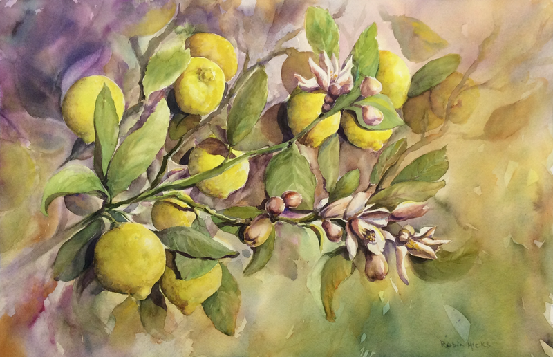 (CreativeWork) The Scent of Spring by Robin Hicks. Watercolour Paint. Shop online at Bluethumb.