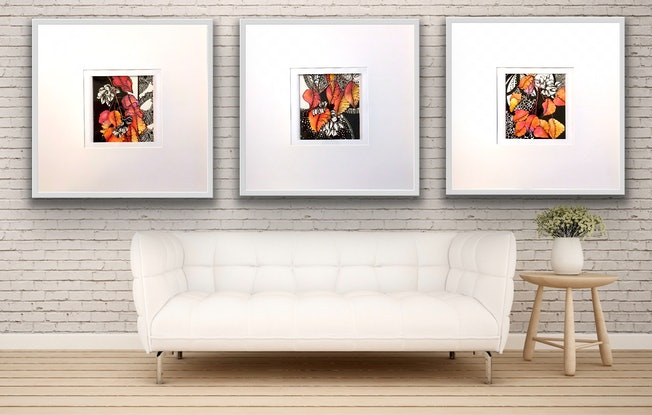 (CreativeWork) Autumn Seed Pod Trio by Tania Daymond. Drawings. Shop online at Bluethumb.