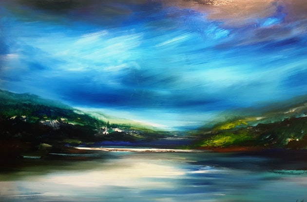 (CreativeWork) The Path to There by Alice Howell. Oil Paint. Shop online at Bluethumb.