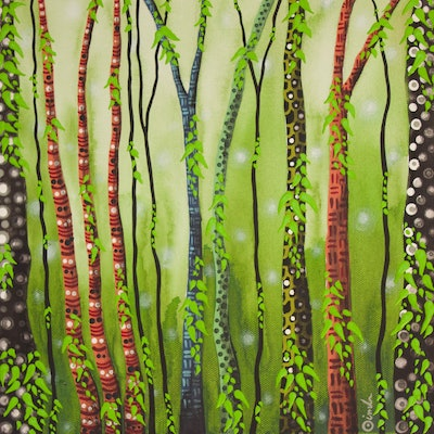 (CreativeWork) New Trees by Ornella Imber. Acrylic Paint. Shop online at Bluethumb.