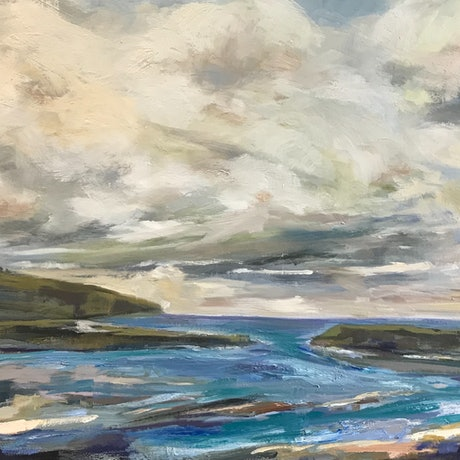 (CreativeWork) Blustery Day by Gail McKenzie. Oil Paint. Shop online at Bluethumb.