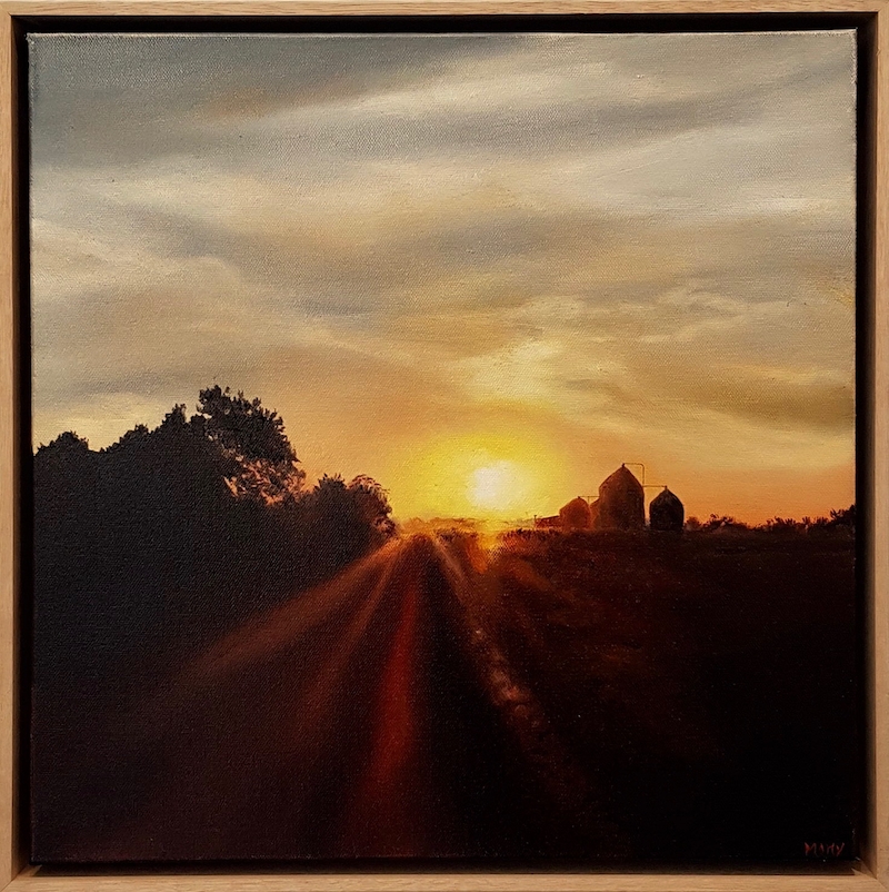 (CreativeWork) Last Rays by Cathy Yarwood - Mahy. Oil Paint. Shop online at Bluethumb.