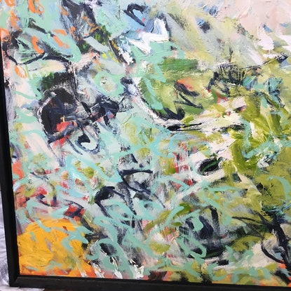 (CreativeWork) New Start by Margie Delahunty Spencer. Acrylic Paint. Shop online at Bluethumb.