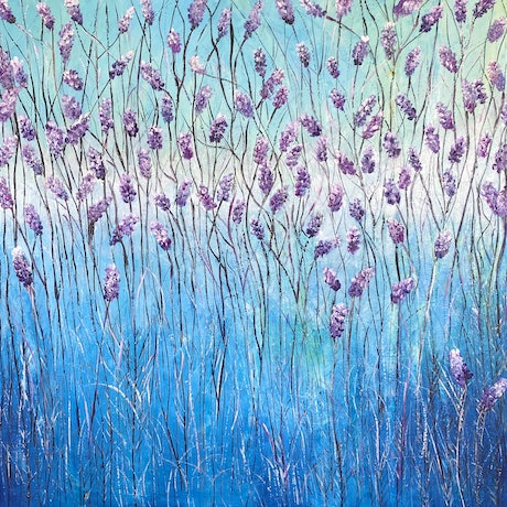 (CreativeWork) Lavender Ascending by Corinne Young. Oil Paint. Shop online at Bluethumb.