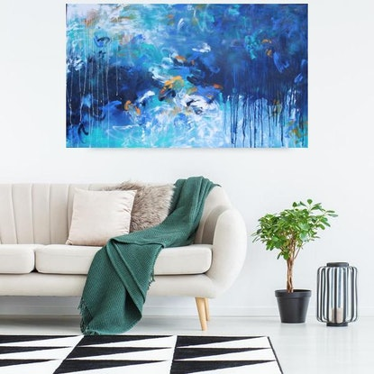 (CreativeWork) Reflecting Light by Belinda Nadwie. Oil Paint. Shop online at Bluethumb.
