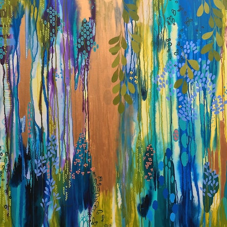 (CreativeWork) Captivated by Leah Doeland. Acrylic Paint. Shop online at Bluethumb.