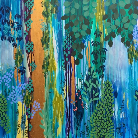 (CreativeWork) Enthralled  by Leah Doeland. Acrylic Paint. Shop online at Bluethumb.