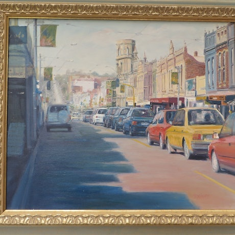 (CreativeWork) Burke Road by Jennifer Viney. Oil Paint. Shop online at Bluethumb.