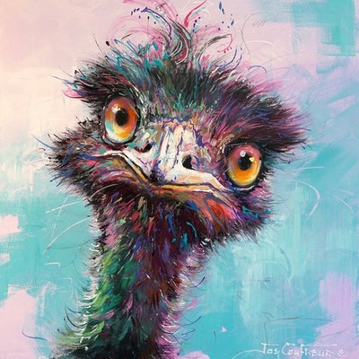 (CreativeWork) Emu 68 by Jos Coufreur. Acrylic Paint. Shop online at Bluethumb.