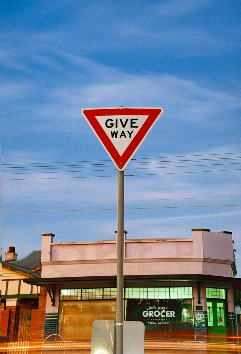 (CreativeWork) Give Way and Grocer  Ed. 1 of 3 by Alex Frayne. Photograph. Shop online at Bluethumb.