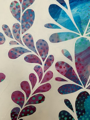 (CreativeWork) Positive Vines (Framed) by Rebecca Warr. Acrylic Paint. Shop online at Bluethumb.