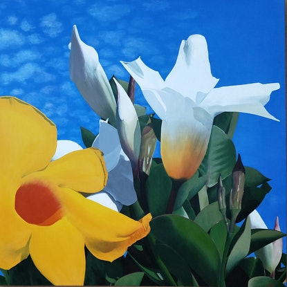 (CreativeWork) Pure Sunshine by Lisa Gaudron. Acrylic Paint. Shop online at Bluethumb.