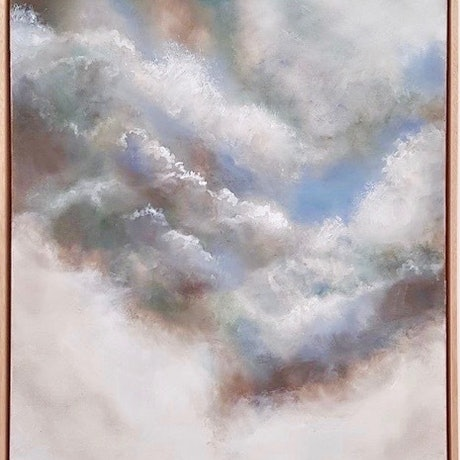 (CreativeWork) Celestial Tide by Cathy Yarwood - Mahy. Oil Paint. Shop online at Bluethumb.