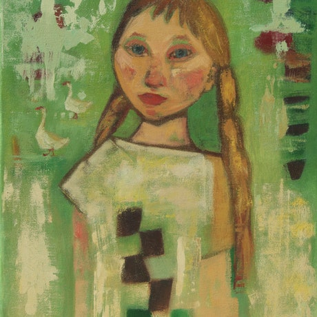 (CreativeWork) Country Girl by Tetyana Khytko. Oil Paint. Shop online at Bluethumb.