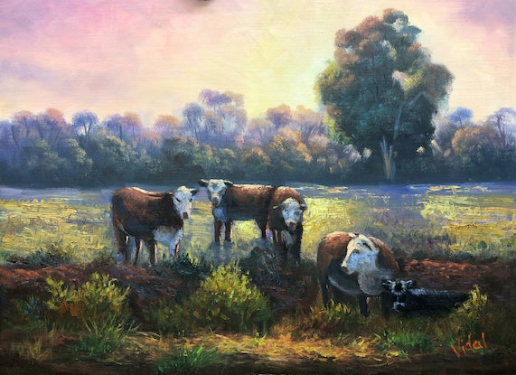 (CreativeWork) Keeping together by Christopher Vidal. Oil. Shop online at Bluethumb.