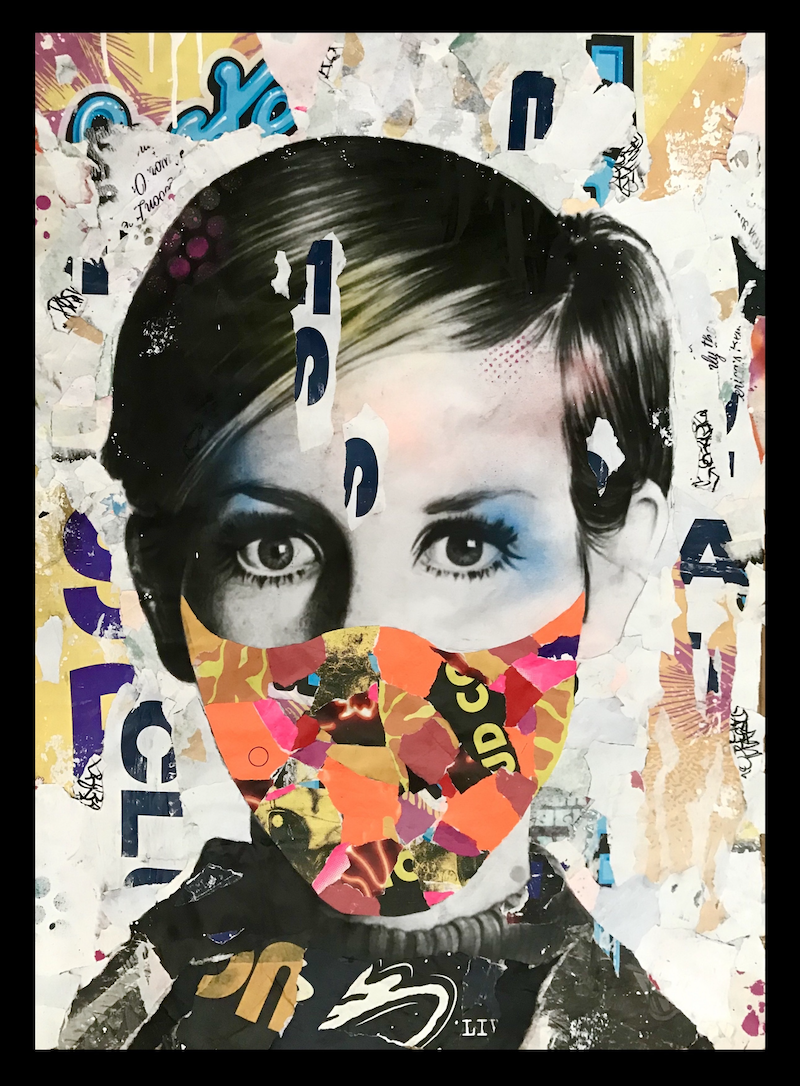 (CreativeWork) Twiggy-XIX  by Cold Ghost. Mixed Media. Shop online at Bluethumb.