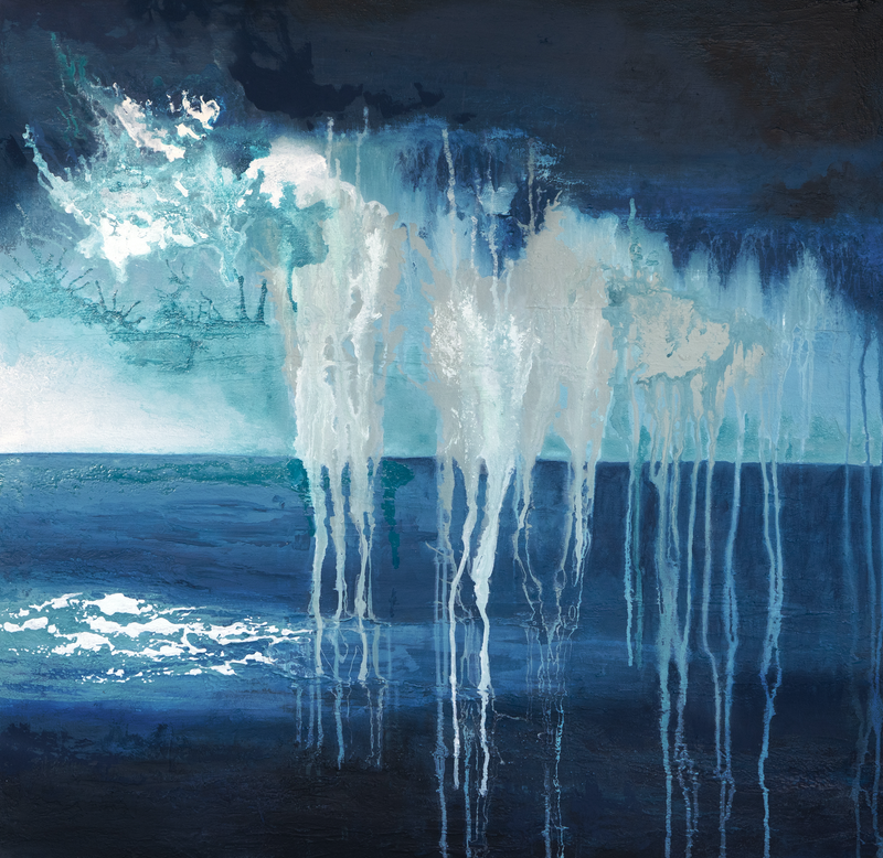 (CreativeWork) Passing Storm by Brigitte Ackland. Acrylic Paint. Shop online at Bluethumb.