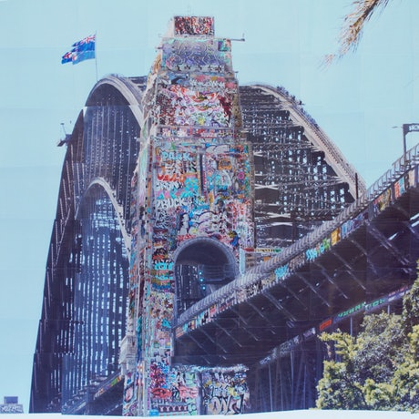 (CreativeWork) Sydney Harbour Bridge by jordan richardson. Photograph. Shop online at Bluethumb.