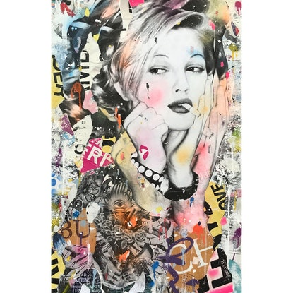 (CreativeWork) STREET ICON 196 - Drew by Cold Ghost. Mixed Media. Shop online at Bluethumb.