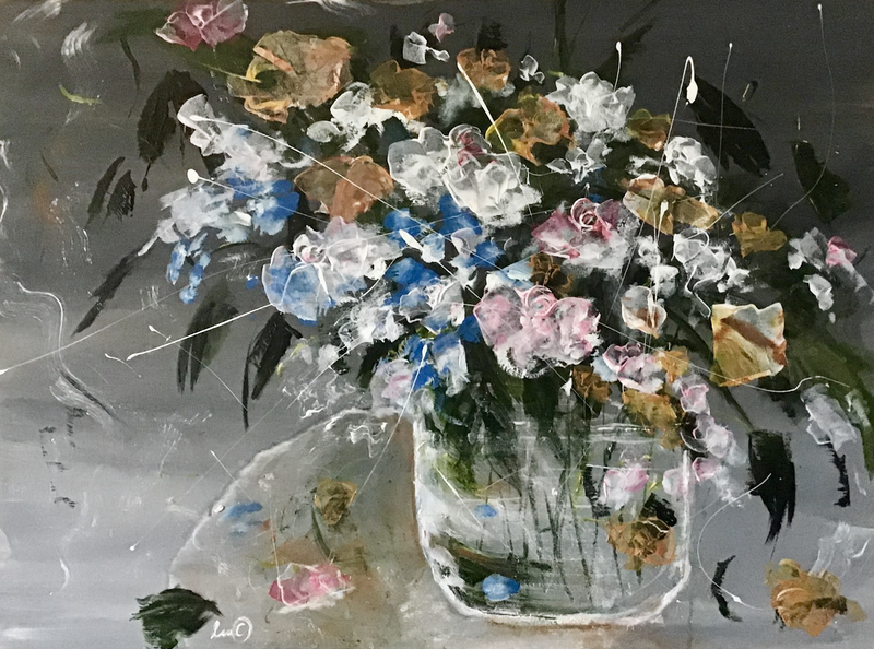 (CreativeWork) Like Still Life by Louise Croese. Mixed Media. Shop online at Bluethumb.