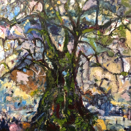 (CreativeWork) THE OLIVE TREE by Maureen Finck. Oil Paint. Shop online at Bluethumb.