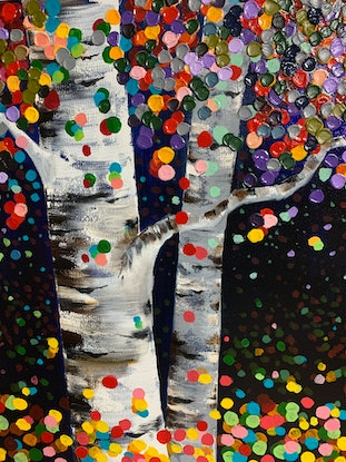 (CreativeWork) Aspen Colour Time by Tom Roso. Acrylic Paint. Shop online at Bluethumb.