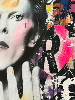 (CreativeWork) Street Icon 197 - Bowie by Cold Ghost. Mixed Media. Shop online at Bluethumb.