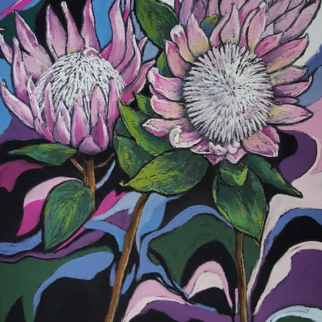 (CreativeWork) Protea by Helen Miles. Other Media. Shop online at Bluethumb.