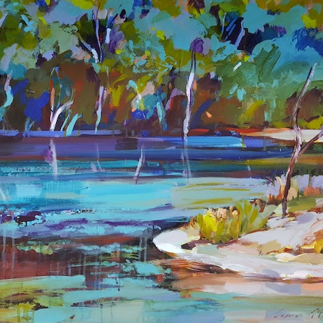 (CreativeWork) Reflections of Tranquility by Carmen McFaull. Acrylic Paint. Shop online at Bluethumb.
