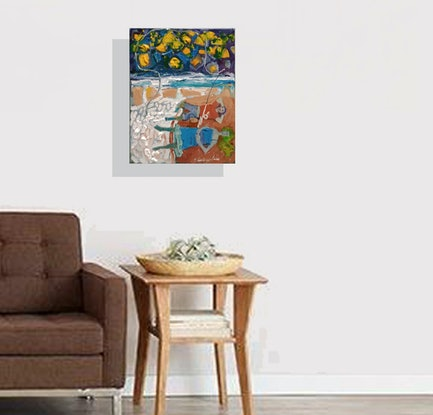 (CreativeWork) Not Plenty of Fish by Jamie Congdon. Oil Paint. Shop online at Bluethumb.