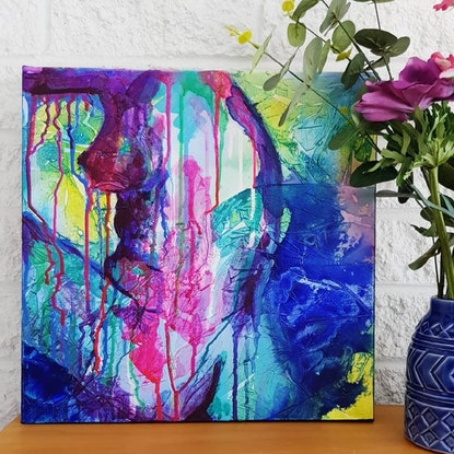 (CreativeWork) Ocean Lady by Michelle Murphy. Acrylic Paint. Shop online at Bluethumb.
