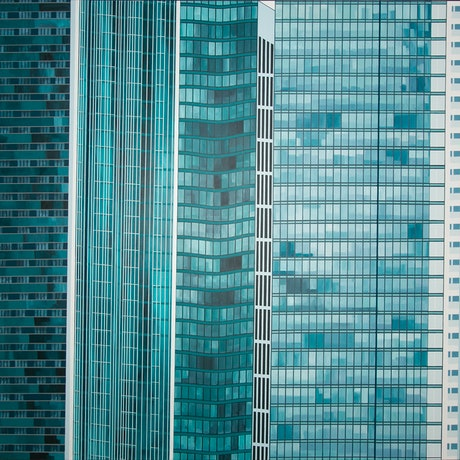 (CreativeWork) Singapore Highrise by Dean O'Callaghan. Acrylic Paint. Shop online at Bluethumb.