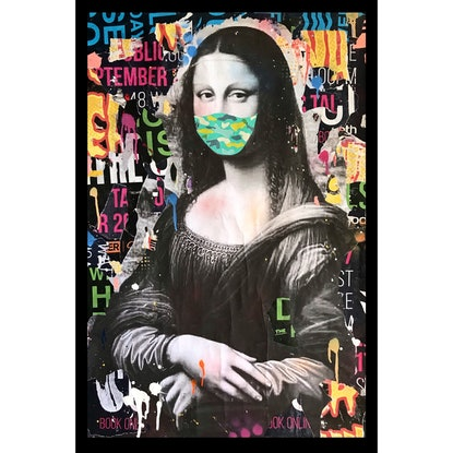 (CreativeWork) MONA XIX by Cold Ghost. Mixed Media. Shop online at Bluethumb.
