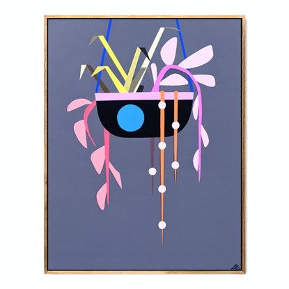 (CreativeWork) Hanging Planter No.2 by Andria Beighton. Acrylic. Shop online at Bluethumb.