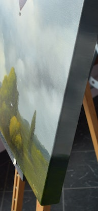 (CreativeWork) Morning in the Clouds by Elaine Green. Oil Paint. Shop online at Bluethumb.