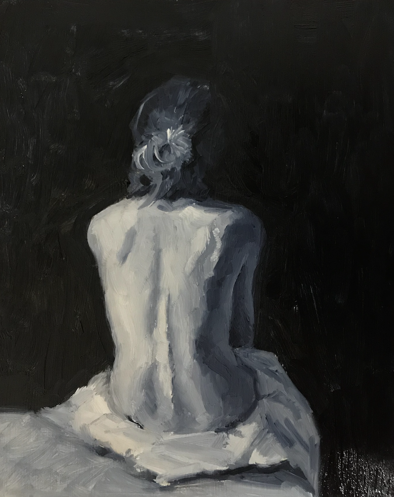 (CreativeWork) Back Study I by James Needham. Oil Paint. Shop online at Bluethumb.