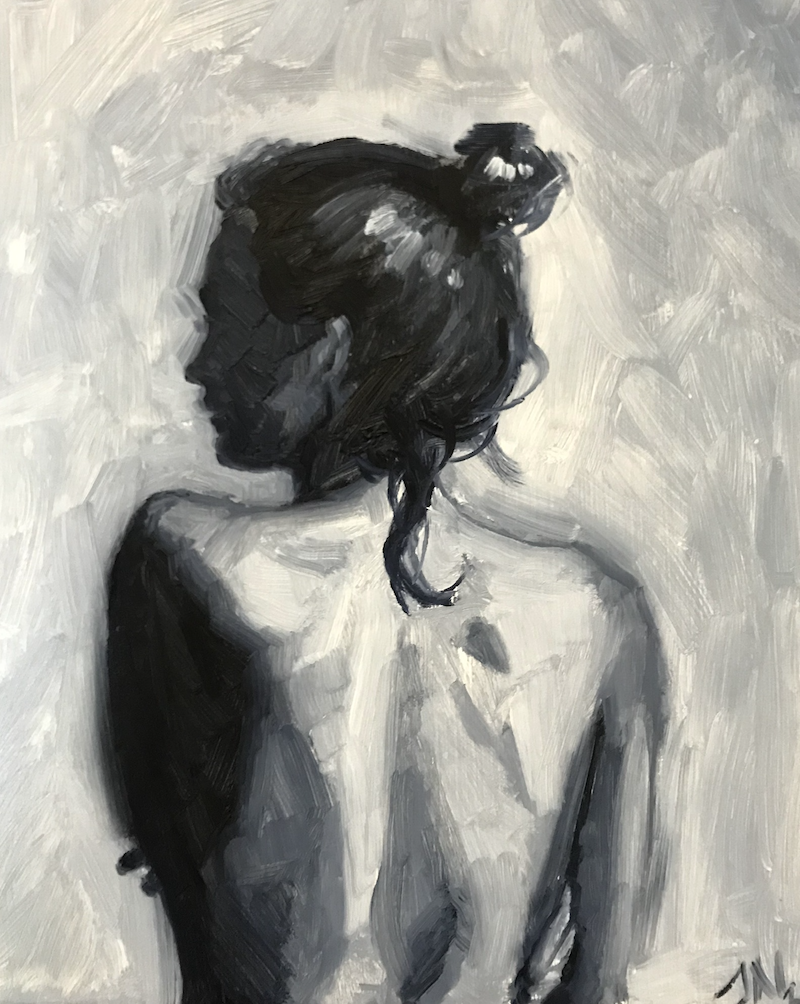 (CreativeWork) Back Study II by James Needham. Oil Paint. Shop online at Bluethumb.