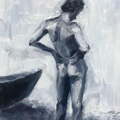 (CreativeWork) Nude study, after Eakins by James Needham. Oil Paint. Shop online at Bluethumb.
