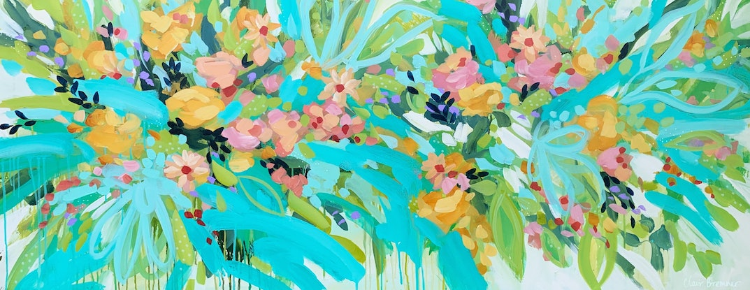 (CreativeWork) New Bloom by Clair Bremner. Acrylic Paint. Shop online at Bluethumb.