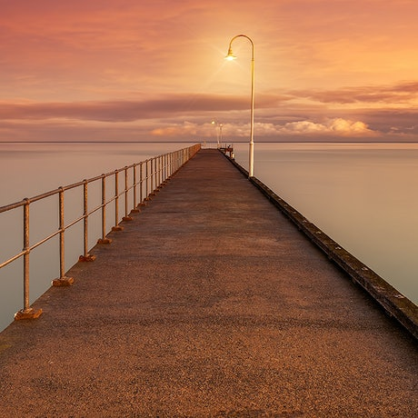 (CreativeWork) Pier Street Dromana Ed. 9 of 200 by Nick Psomiadis. Photograph. Shop online at Bluethumb.