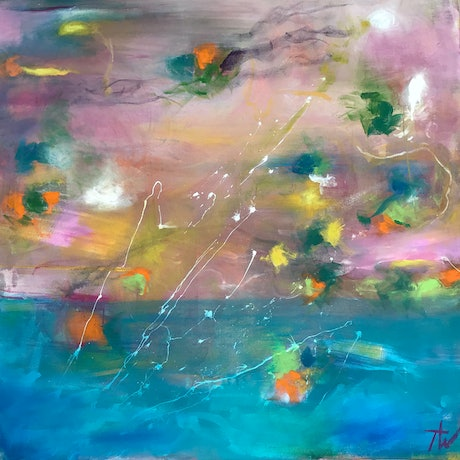 (CreativeWork) Glimmers of Hope by Tania Weekes. Acrylic Paint. Shop online at Bluethumb.