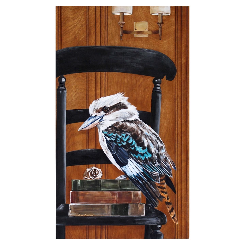 (CreativeWork) SALE* Kooky kookaburra  by Bonnie Larden. Acrylic Paint. Shop online at Bluethumb.