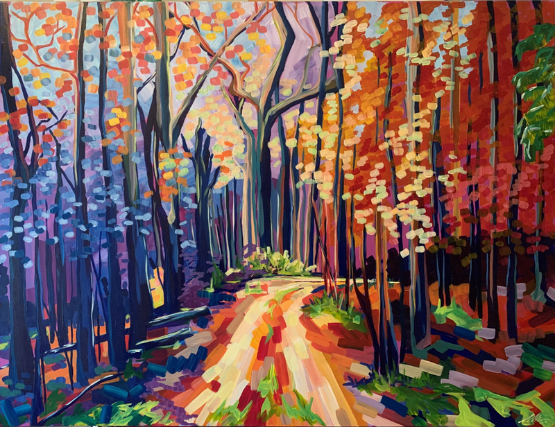 (CreativeWork) The Path Home - The Riverina Series  by Maggie Deall. Acrylic Paint. Shop online at Bluethumb.
