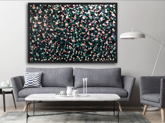 (CreativeWork) Pebbles by Night by Sabi Klein. Acrylic Paint. Shop online at Bluethumb.