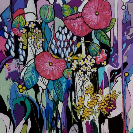 (CreativeWork) Floralism by Helen Miles. Other Media. Shop online at Bluethumb.